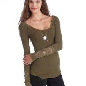 Free People Olive Henley